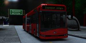 autobus camion 3d model