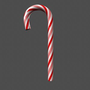 candy cane shaders 3d model