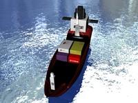 3d cargo ship model