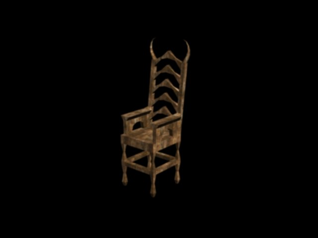 3d x demon chair