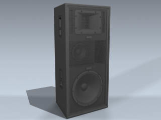 concert loudspeaker 3d model