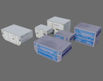 aircraft container 3d model