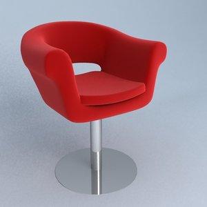 cuba chair 3d max