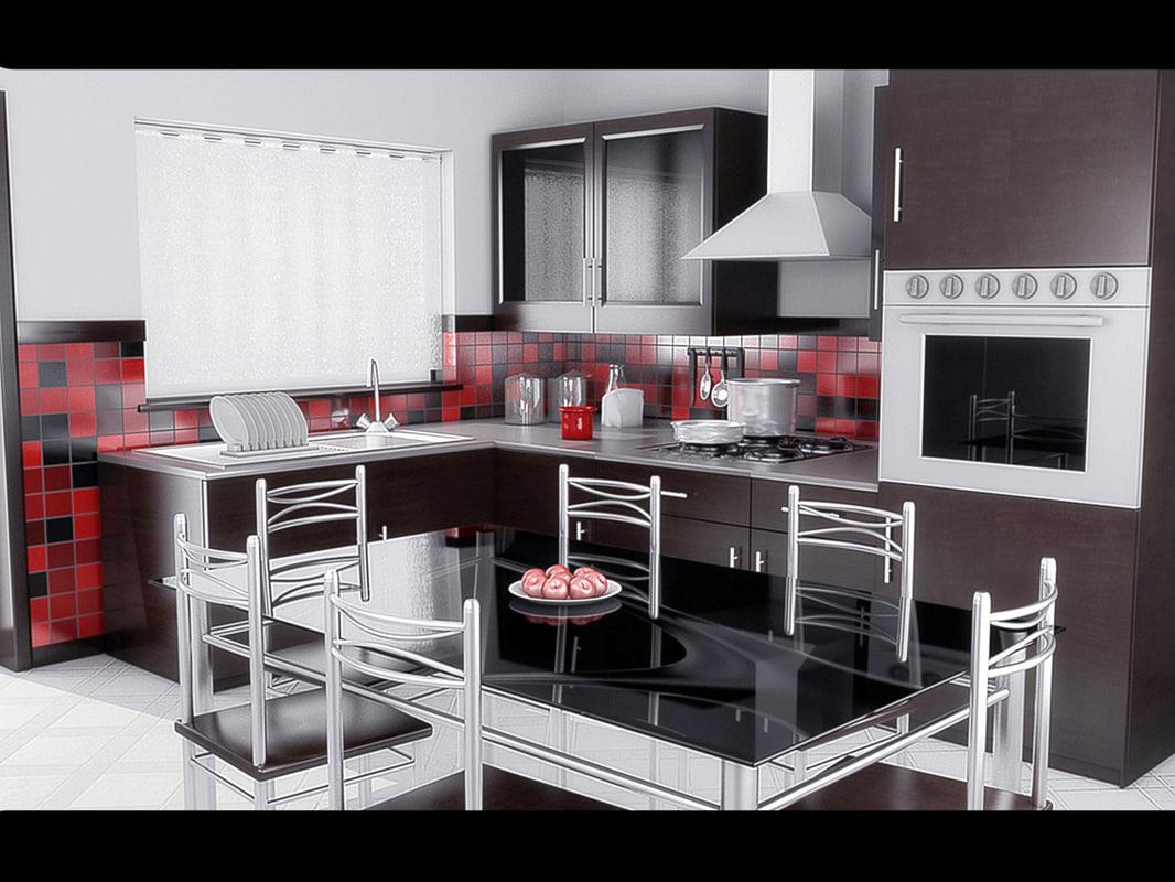 kitchen 3d obj