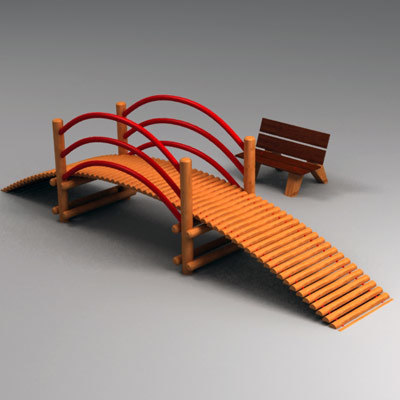3d bridge playground play model