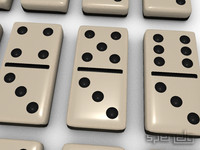 3d model set dominoes final