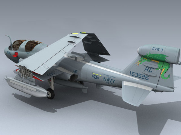 3d model of ea-6b prowler vaq-130