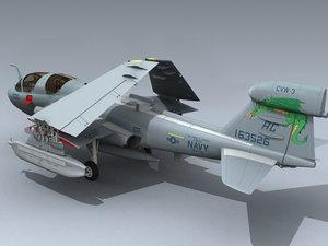 3d model of ea-6b prowler vaq-130