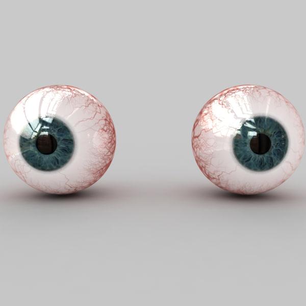 3d max human eye