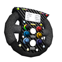 f1 steering wheel obj