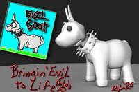 3d evil goat