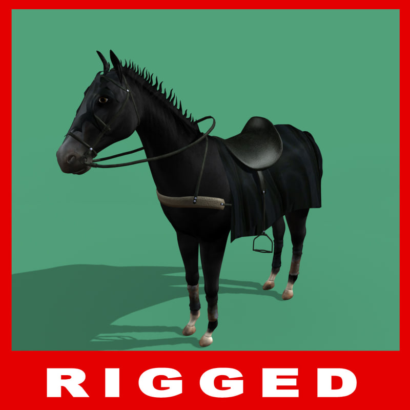 3d rigged horse model