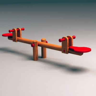 3d swing wooden