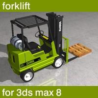 3d forklift palette boxes