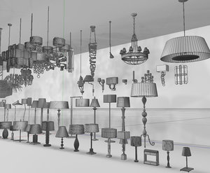 maya interior lights chandeliers lamps