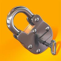 3d lock padlock pad model