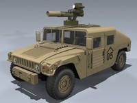 m1046 humvee tow 3d model