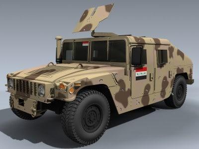 3d model m1114 hmmwv iraqi humvee army