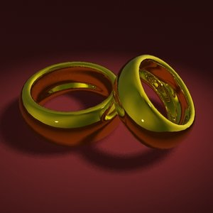 marriage rings 3d max