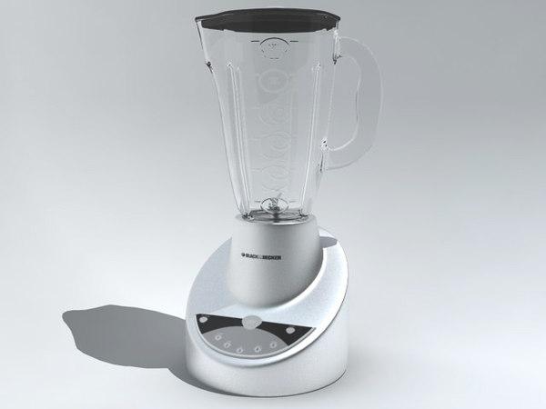 mixer blender licuadora 3d model