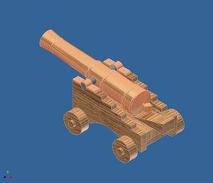 3ds max cannon naval gun replica