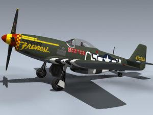 p-51d mustang frenesi 3d max
