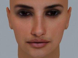 actress penelope cruz 3d model