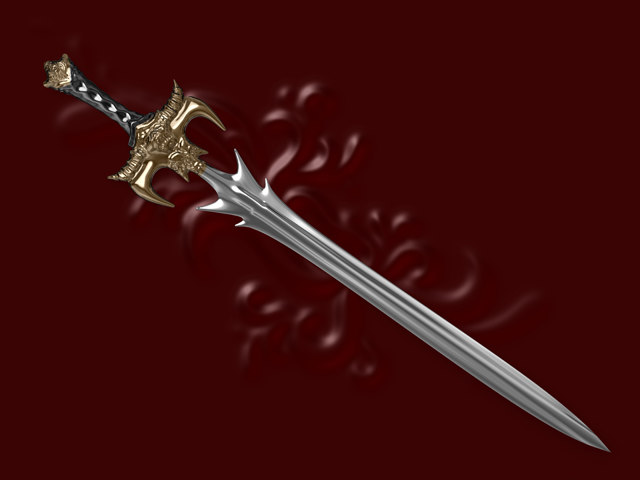 3d sword modeled model