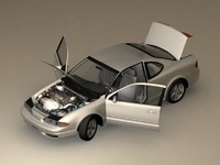 2003 oldsmobile alero coupe 3d model
