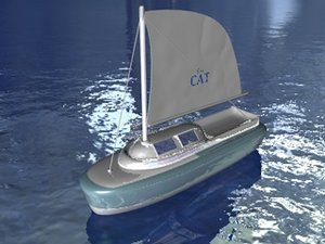 3d 3ds sail boat