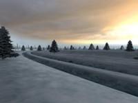 3d model winter environment