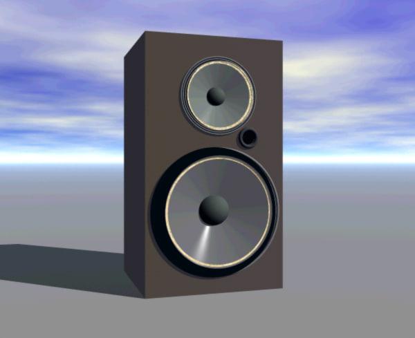 speak speaker 3d model