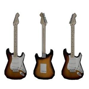 3d stratocaster guitar
