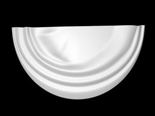 3d model of half circle