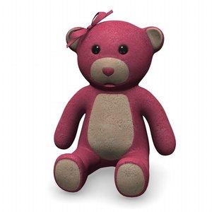 3d teddy bear girl model