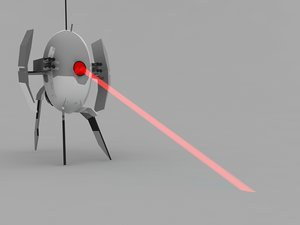 3dsmax turret portal laser