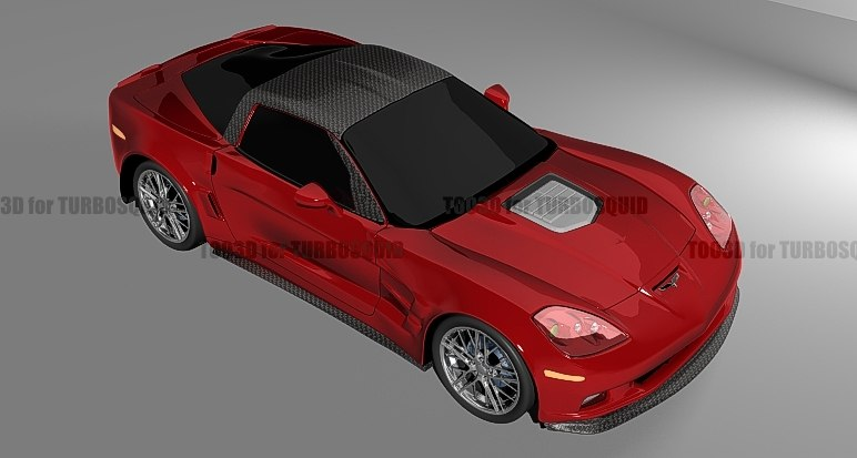 corvette zr 3d max