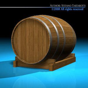 c4d wine barrel