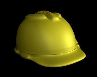 3d obj workers hat helmet
