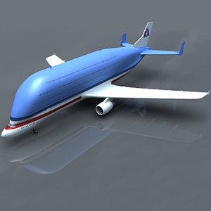 3d model super transporter american airlines