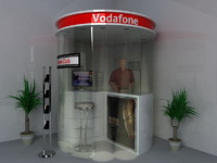 3d model stand promotion