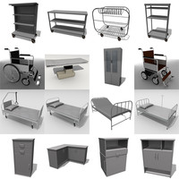 3ds 16 medical hospital furniture