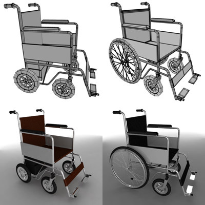 3d wheel chairs model