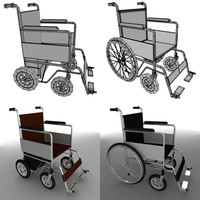3d wheel chairs model