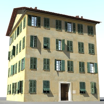 tuscan house 3d model