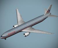 3d b 777-300 er american model