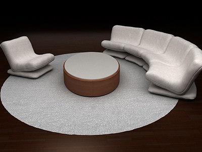 3d living room set armchair