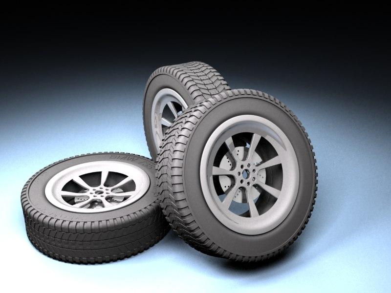 3d model rim tyre