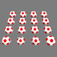 low poly soccer balls pack
