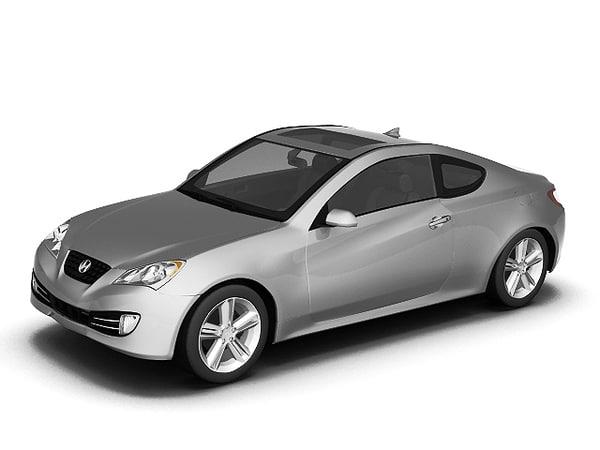hyundai genesis coupe 3d model